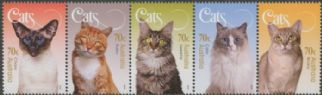 AUS SG4362a Cats of Australia strip of 5